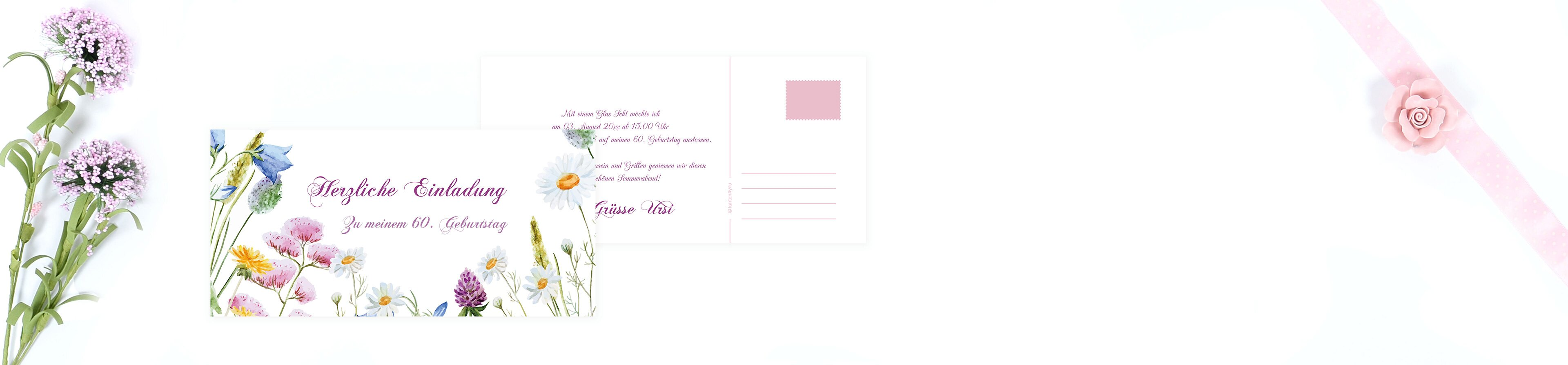 Geburtstagseinladungen Gestalten Auf Www Karten4you Ch